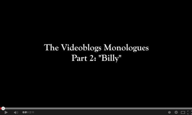 Our second videoblog monologue