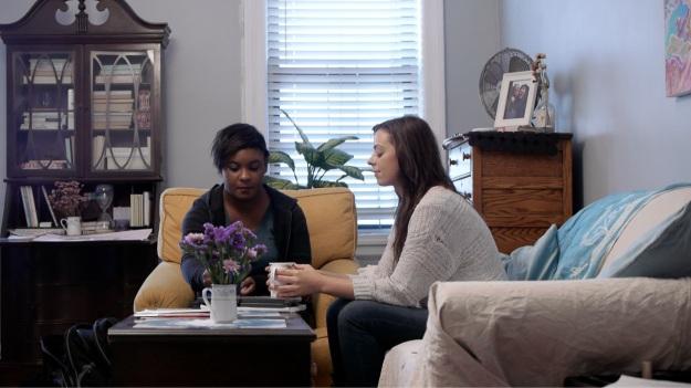 Things get intense during Margaret (Rebecca De Ornelas) and Vee's (Phoebe Allegra) first meeting.