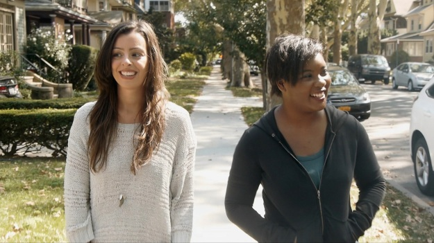 Margaret (Rebecca De Ornelas) and Vee (Phoebe Allegra) know the value of a short walk in the sun. From The Videoblogs.