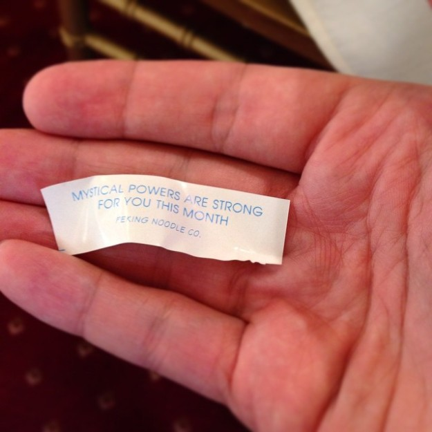 On second thought, it could have just been the cookie.