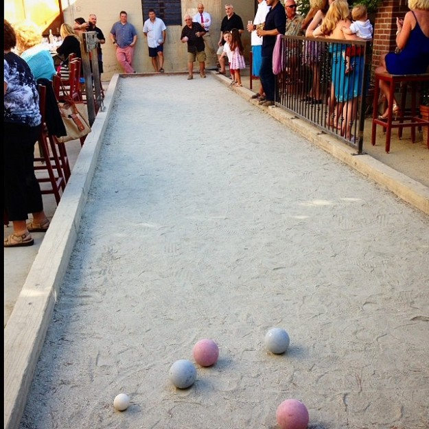 My grandfather is a boss at bocce.
